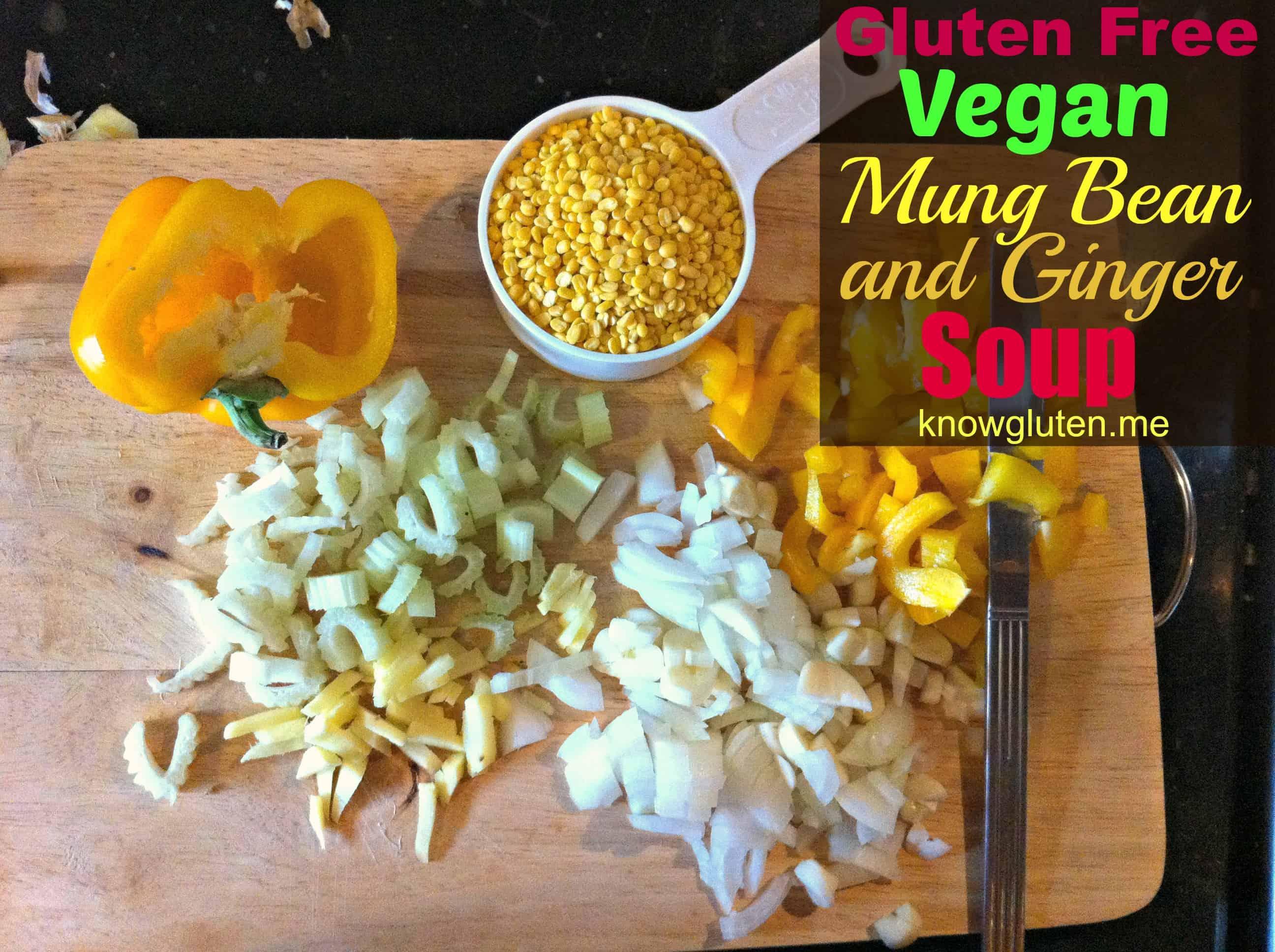 Gluten Free Vegan Mung Bean and Ginger Soup