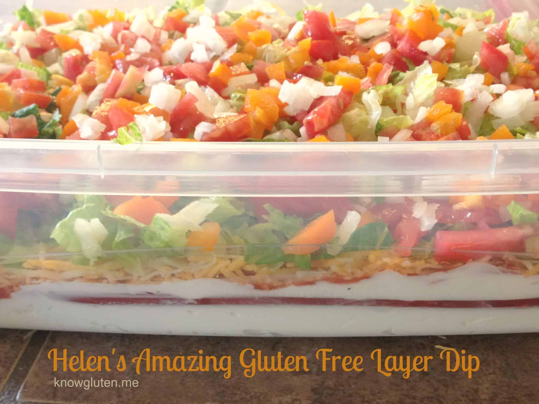 Helen's Amazing Gluten Free Layer Dip from knowgluten.me