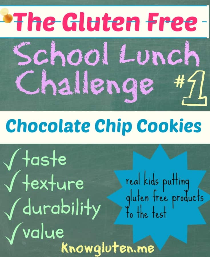 The Gluten Free School Lunch Challenge Chocolate Chip Cookies Blue