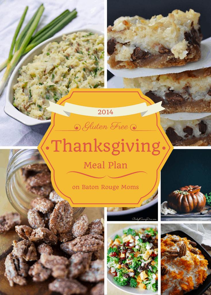 Gluten Free Thanksgiving Meal Plan - know gluten