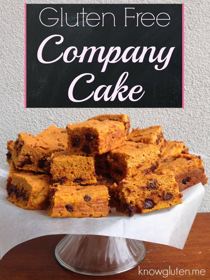 Easy Gluten Free Company Cake!! I always make this when I have last minute company or need to serve breakfast to a crowd. knowgluten.me