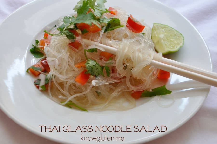 Thai Glass Noodle Salad - Gluten Free from knowgluten.me